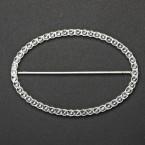 Metal Diamante Effect Oval Buckle