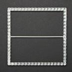 Metal Diamante Effect Square Buckle