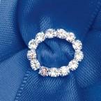 Diamante Oval Ribbon Buckle