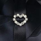 Mini Diamante Heart Buckle