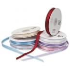 white picot edge satin ribbon - 12mm x 25mt