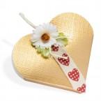 Gold Silk Heart Box
